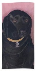 Black Lab Beach Towel