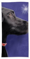 Black Labrador Retriever - Wish Upon A Star  Beach Towel