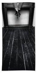 Black Shoes #9397 Beach Towel