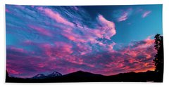 Blazing Sunset Beach Towel