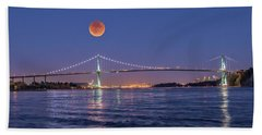 Blood Moon  Beach Towel
