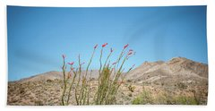 Blooming Ocotillo Beach Sheet