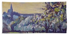 Blossom Trees Near Vijlen Beach Towel