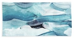 Beach Towel featuring the painting Blue #13 by Maria Langgle