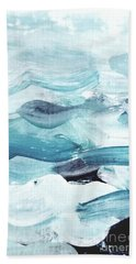 Beach Towel featuring the painting Blue #14 by Maria Langgle