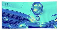 Beach Towel featuring the photograph Blue 1955 Buick Special by David King