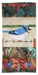 Blue Bird Beach Towel