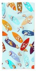 Blue Boarding Beach Beach Towel