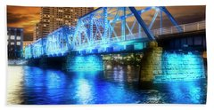 Blue Bridge Autumn Sky Beach Sheet