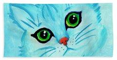 Blue Cat Beach Towel
