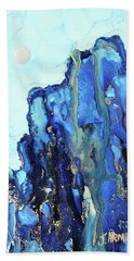 Blue Cliffs Beach Towel