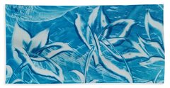 Blue Floral Beach Towel