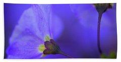 Blue Flower Beach Sheet