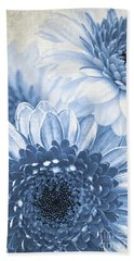 Blue Gerbera Beach Towel
