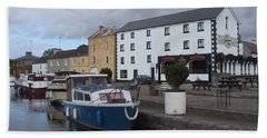 Beach Towel featuring the painting Richmond Harbour  In Cloondara, Co Longford by Val Byrne