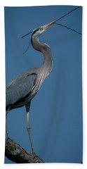 Blue Heron 2011-0322 Beach Towel