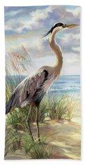 Blue Heron Right Beach Towel