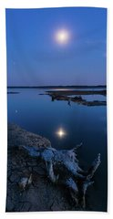 Beach Towel featuring the photograph Blue Moonlight by Davor Zerjav