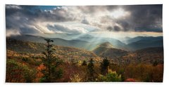 Blue Ridge Mountains Asheville Nc Scenic Autumn Landscape Photography Beach Sheet