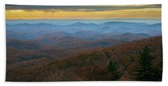 Blue Ridge Parkway - Blue Ridge Mountains - Autumn Beach Towel