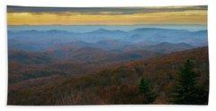 Blue Ridge Parkway - Blue Ridge Mountains - Autumn Beach Towel