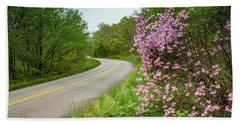 Blue Ridge Parkway In Bloom Beach Sheet