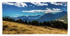 Blue Skies And Mountains Beach Sheet