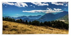 Blue Skies And Mountains Beach Towel