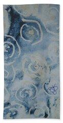 Blue Spirals Beach Towel