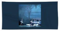 Beach Towel featuring the photograph Blue Swans by PJ Boylan