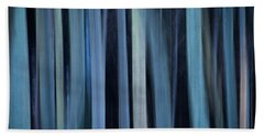 Blue Trees 1 Beach Towel