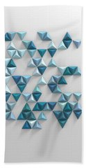 Blue Triangles Beach Towel