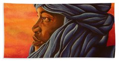 Blue Tuareg Beach Towel