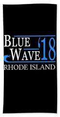 Blue Wave Rhode Island Vote Democrat 2018 Beach Towel