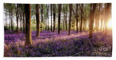 Bluebell Forest Alive At Sunrise Beach Towel