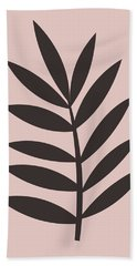 Blush Pink Leaf I Beach Towel