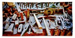 Boat Building Tools Beach Sheet
