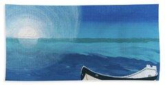 Boat On The Beach Beach Towel