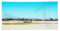Boat On Tonle Sap Lake - Siem Reap, Cambodia Beach Towel