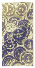 Boating Buttons Beach Towel