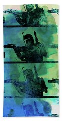 Boba Fett Collage Watercolor 1 Beach Towel