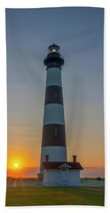 Beach Towel featuring the photograph Bodie Island, Sunrise, Obx by Cindy Lark Hartman