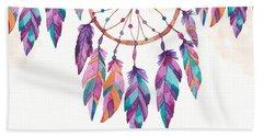 Boho Dreamcatcher - Boho Chic Ethnic Nursery Art Poster Print Beach Towel