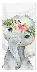 Boho Elephant Beach Towel