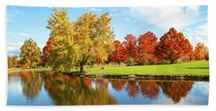 Beach Towel featuring the photograph Boise Fall Foliage by Dart and Suze Humeston