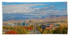 Beach Towel featuring the photograph Boise In Fall by Dart and Suze Humeston