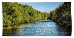 Beach Towel featuring the photograph Boise River by Jon Burch Photography