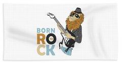 Born To Rock - Baby Room Nursery Art Poster Print Beach Sheet