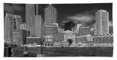 Boston Harbor Skyline Beach Towel