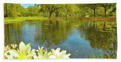 Botanical Gardens Pond Beach Towel